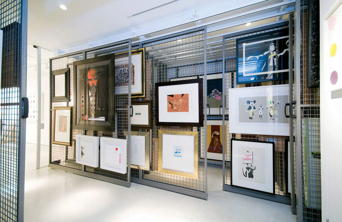 Art work can be accessed easily and viewed in position and on site,