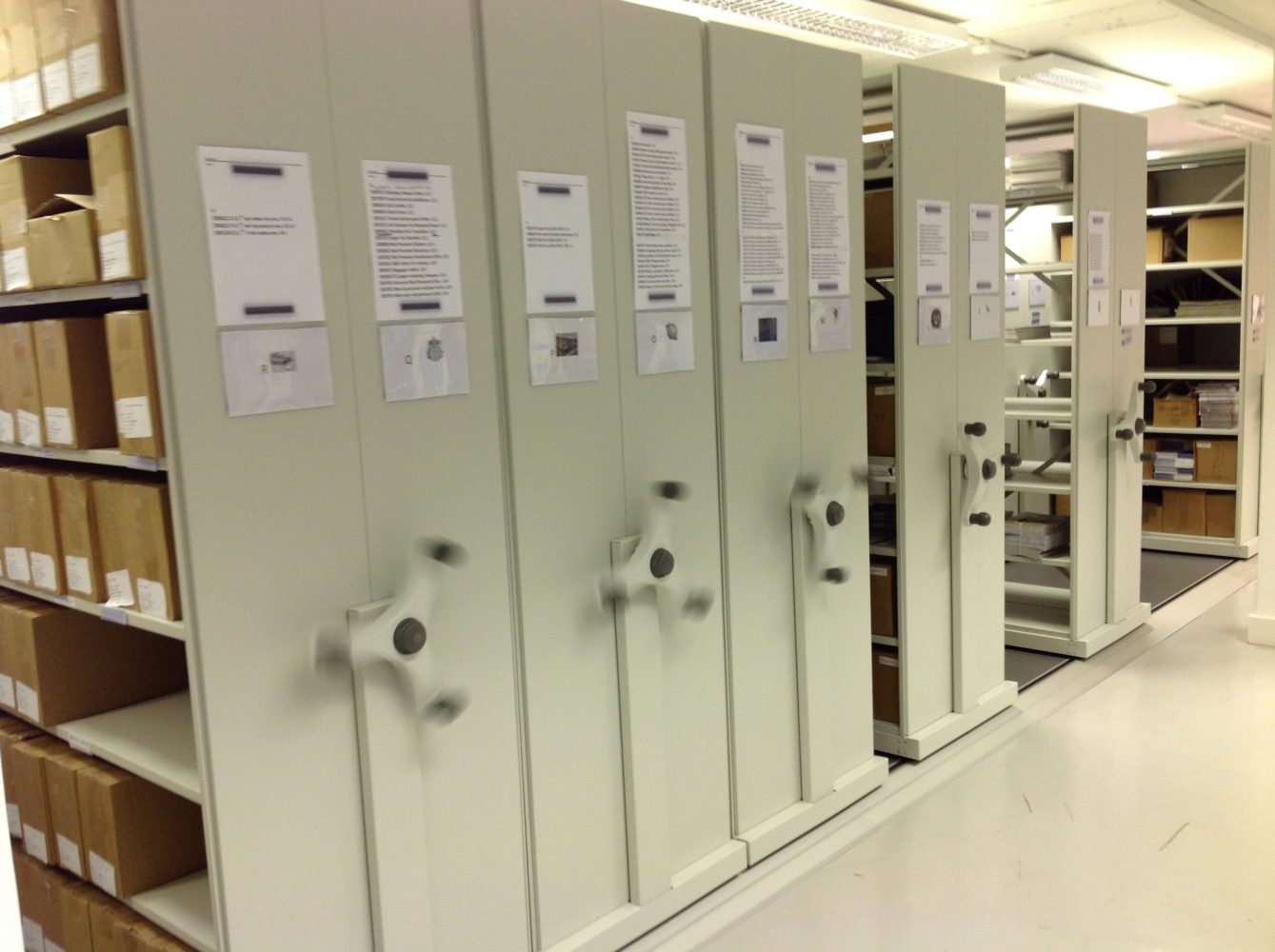 Roller racking is a high-density storage arrangement