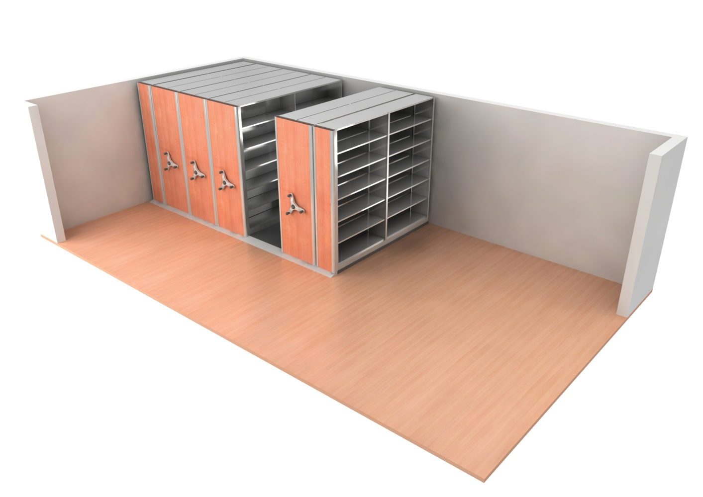 Compact storage systems can be installed in any facilities that require better utilisation of storage space.