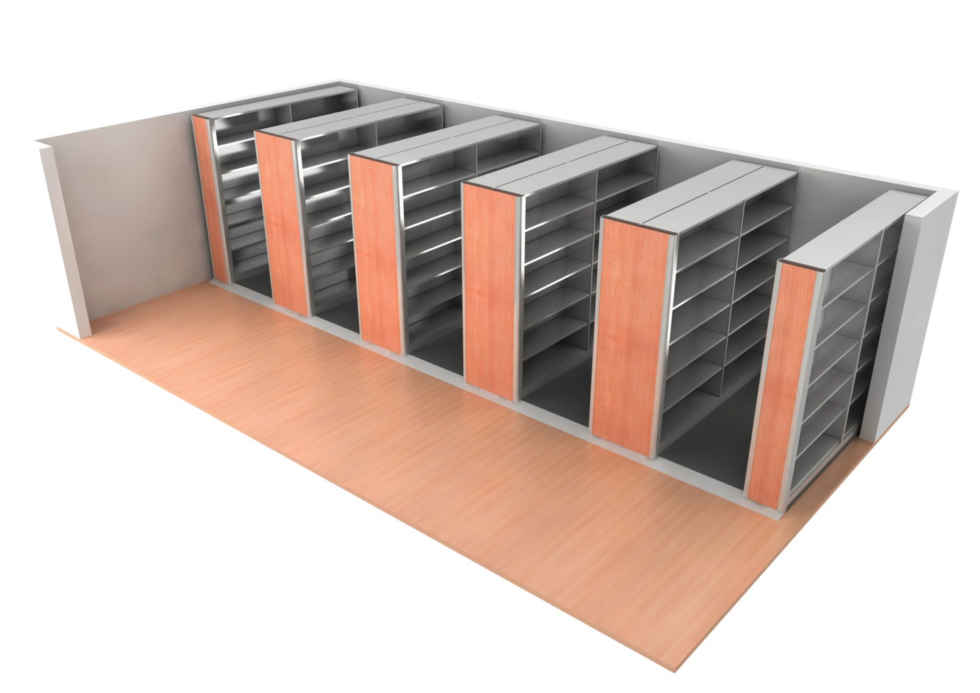 Compact Storage is intrinsically more secure than open static shelving.