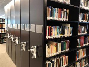 aga khan library mobile shelving